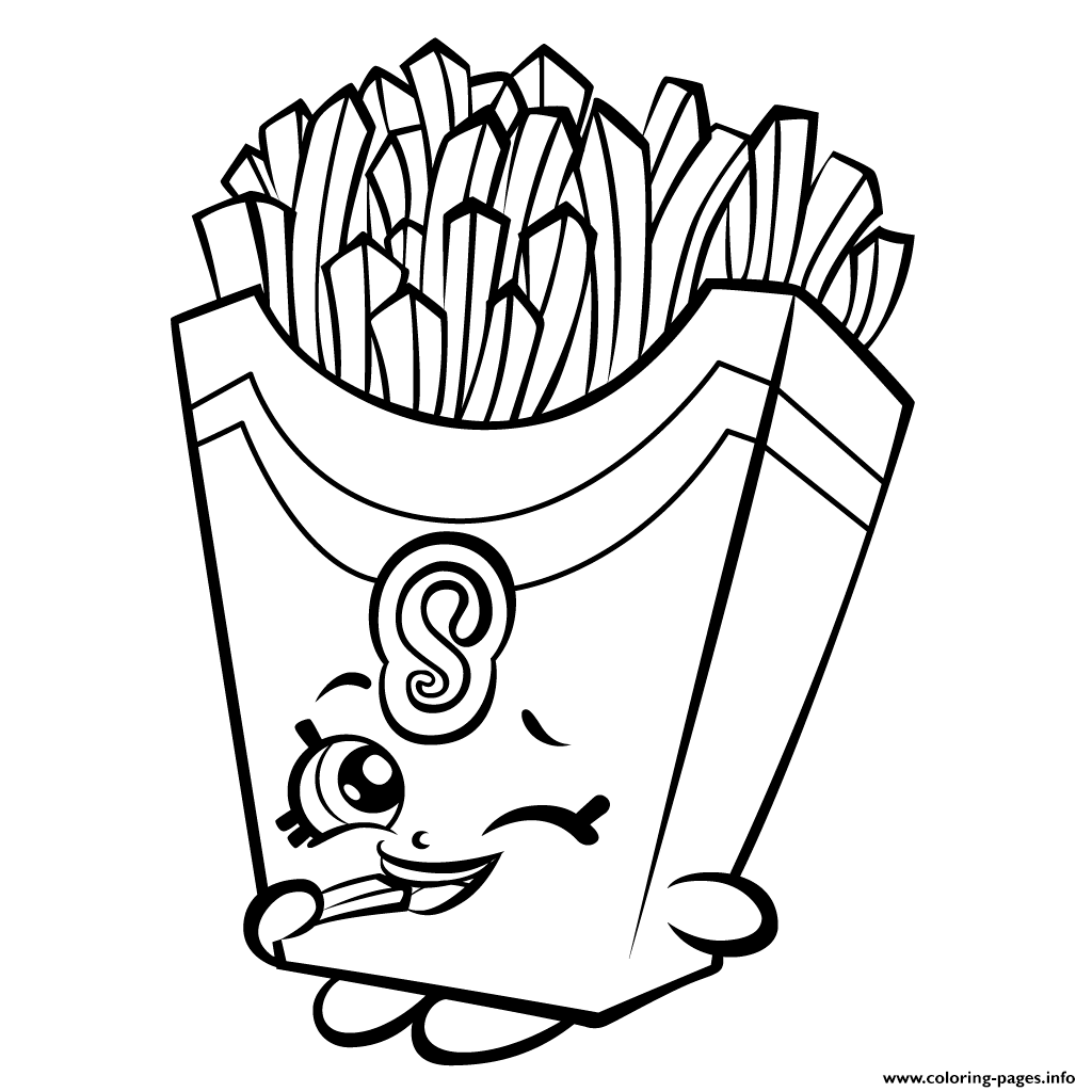 Print Fiona Fries Season 3 Shopkins Coloring Pages