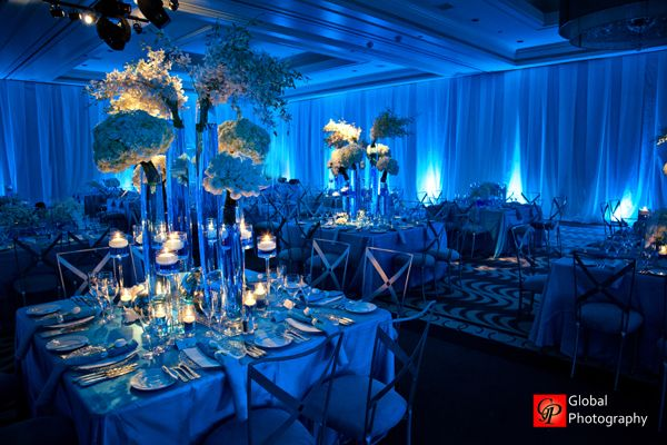 With the stunning big wave theme and blue blue blue everywhere blue wave theme indian wedding reception junglespirit Images