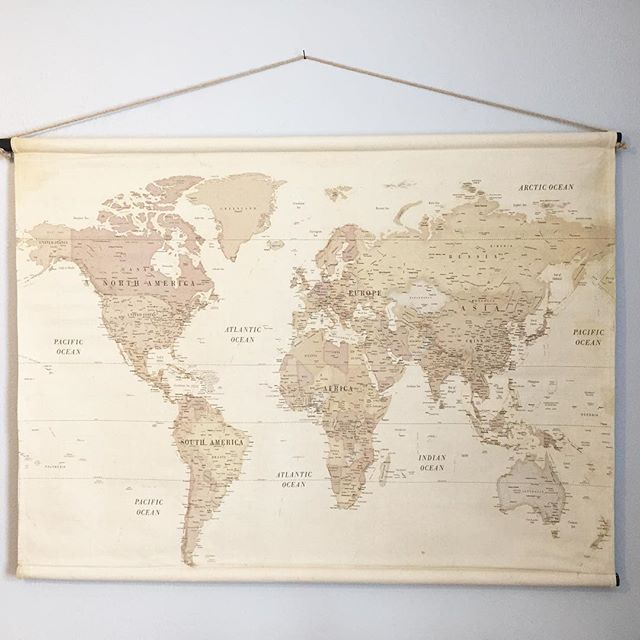 Map At Hobby Lobby Use Coupon Vintage World Maps World Map