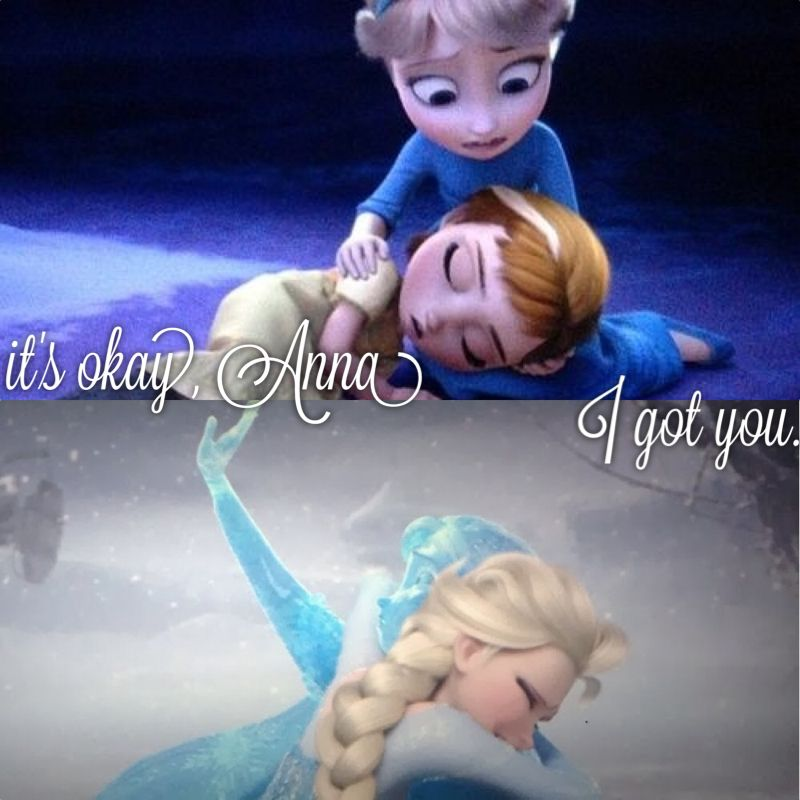 """""""It's okay Anna. I got you."""" The two most touching scenes in the movie."""