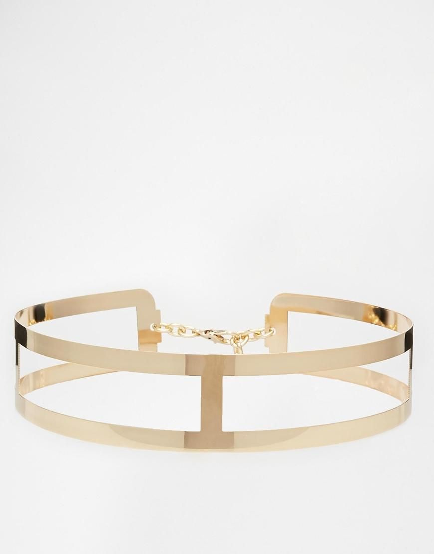 ASOS   ASOS Metal Waist Belt With Cut Work Detail at ASOS ... 000af61afe2