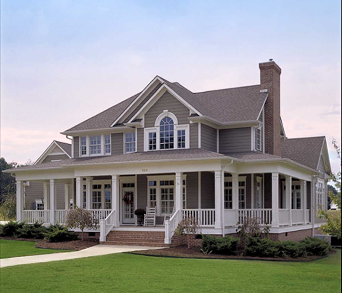 plan 16804wg country farmhouse with wrap around porch country