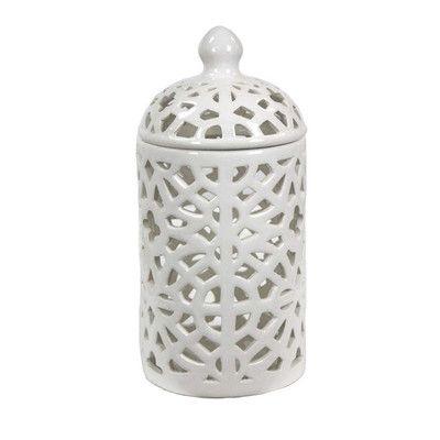 Pierced Jar Wayfair Ceramic Jars Jar Decorative Accessories