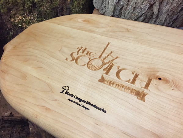 Custom engraved maple platter in support of Save a Warrior!