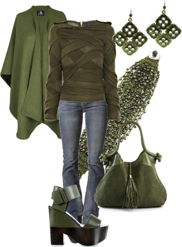 """GREEN"" by jewhite76 on Polyvore"