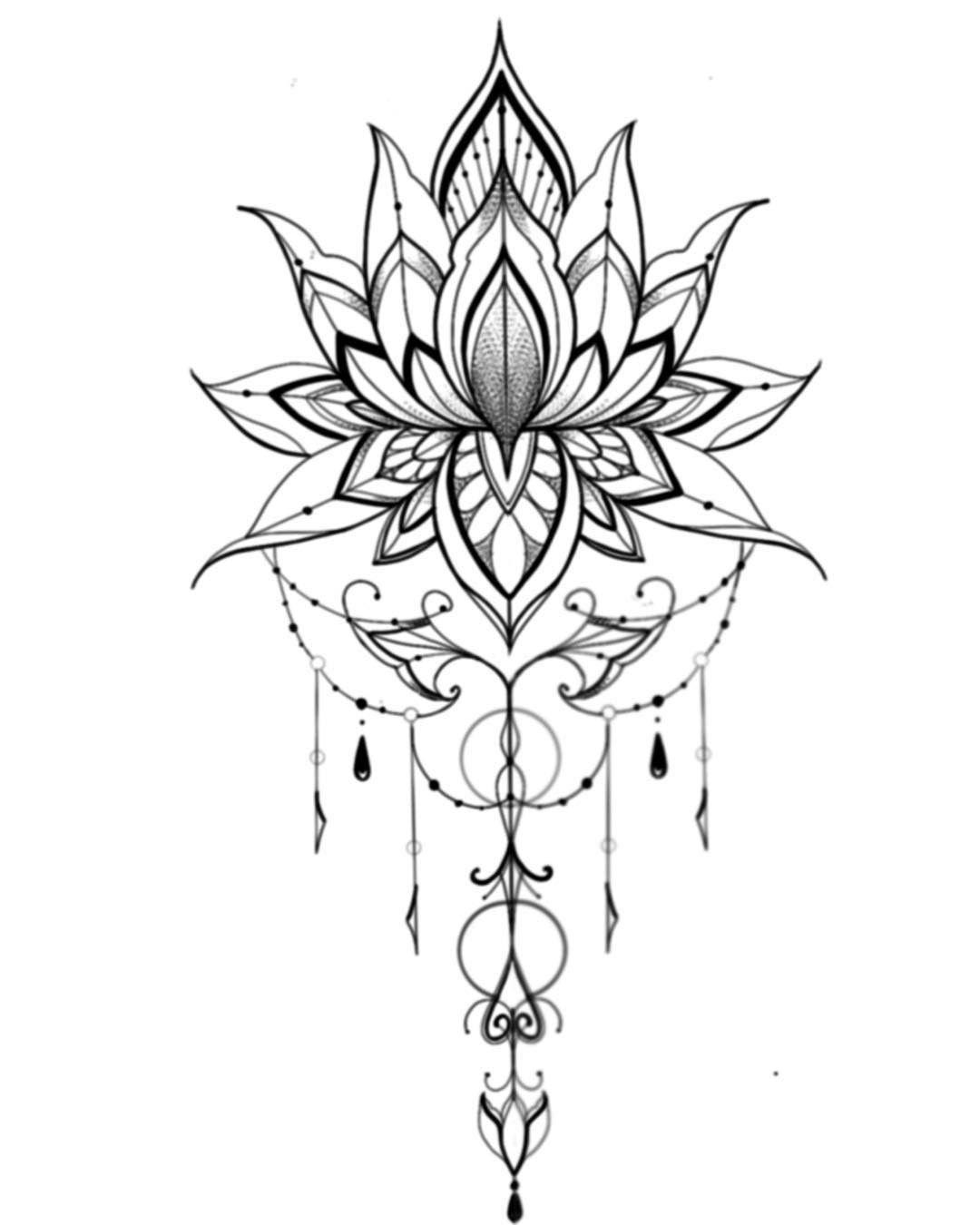 Her Crochet Her Crochet Her Crochet Flowersdesignbackground Flowersdesignideas Flo In 2020 Lotus Tattoo Design Mandala Tattoo Design Simple Mandala Tattoo