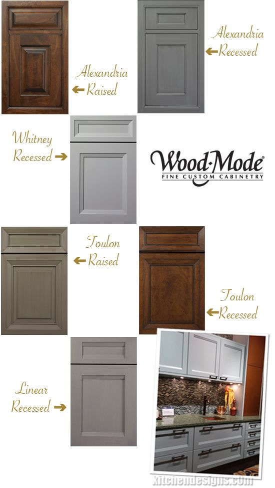 Wood Mode Custom Kitchen Cabinetry Adds Four New Door Styles