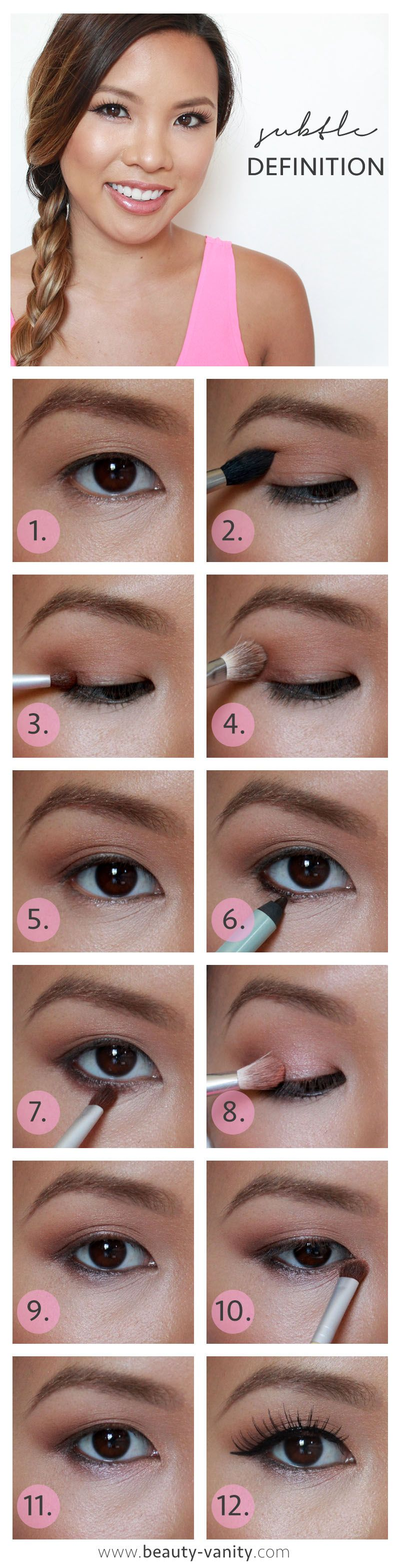 Subtle definition pictorial asian eyes vanities and asian korean makeup beauty vanity be a bombshell tutorial baditri Image collections