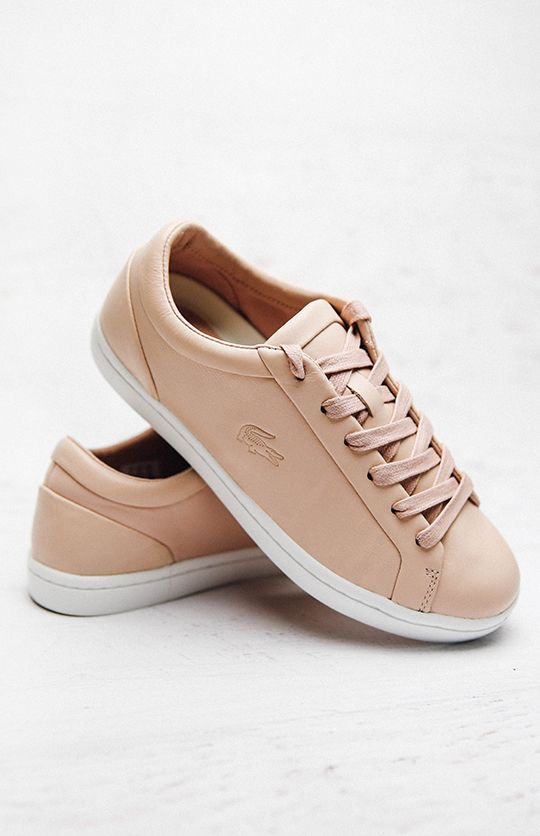 cdd7875231 Lacoste | Straightset 316 1 Sneaker - Light Pink | Back In Stock |  Peppermayo