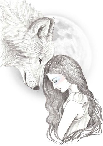 Aullido De Bosque Y Noche En Los Dibujos De Andrea Hrnjak Dibujos Dibujos Bonitos Lindos Dibujos Tumblr