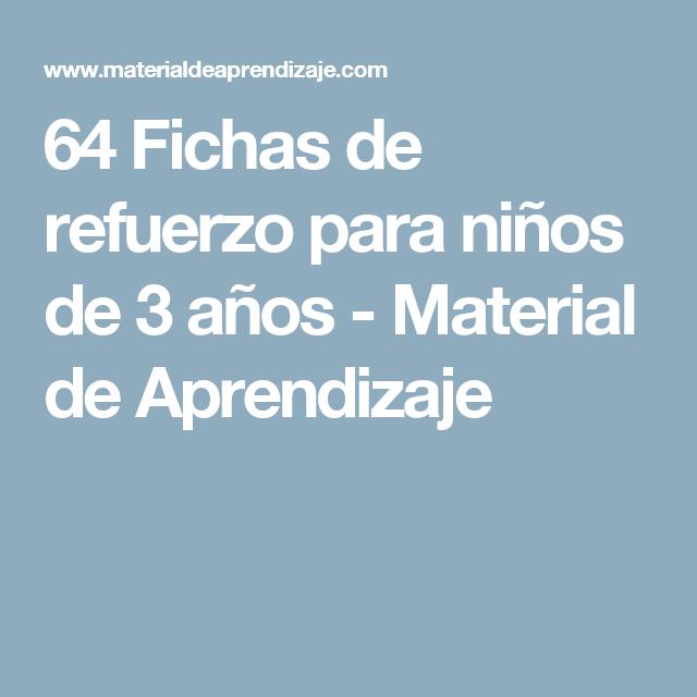 64 Fichas de refuerzo para niños de 3 años - Material de Aprendizaje ...