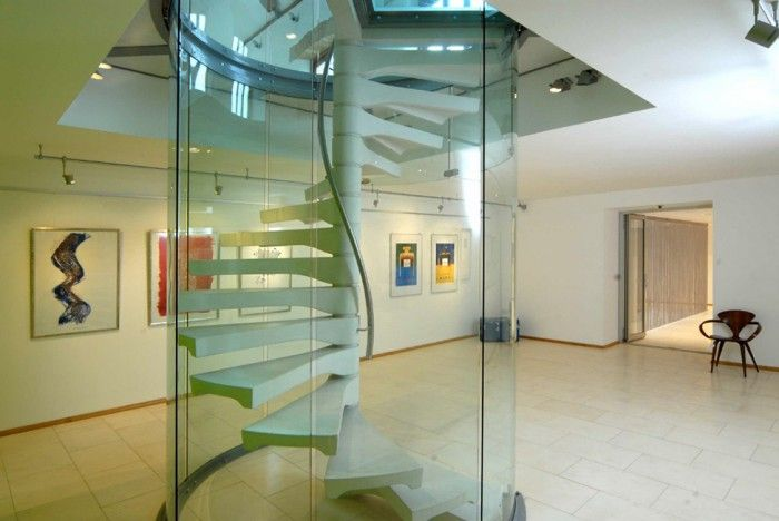 Best Glass Enclosed Spiral Staircase Staircase Architecture 400 x 300