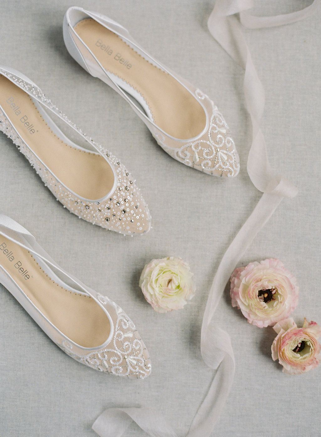 06bedbb0039d0e Bella Belle ivory wedding flats Ariel and Louisa are comfortable with the  extra padding and super chic and stylish with the sparkly crystal  embellishment ...