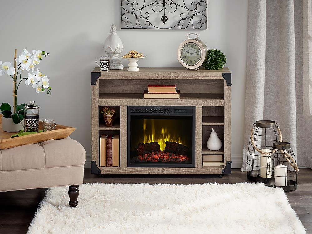 Chelsea Infrared Electric Fireplace, Greatlin Infrared Electric Fireplace Tv Stand In Black Walnut 26mmas6064 Nw07