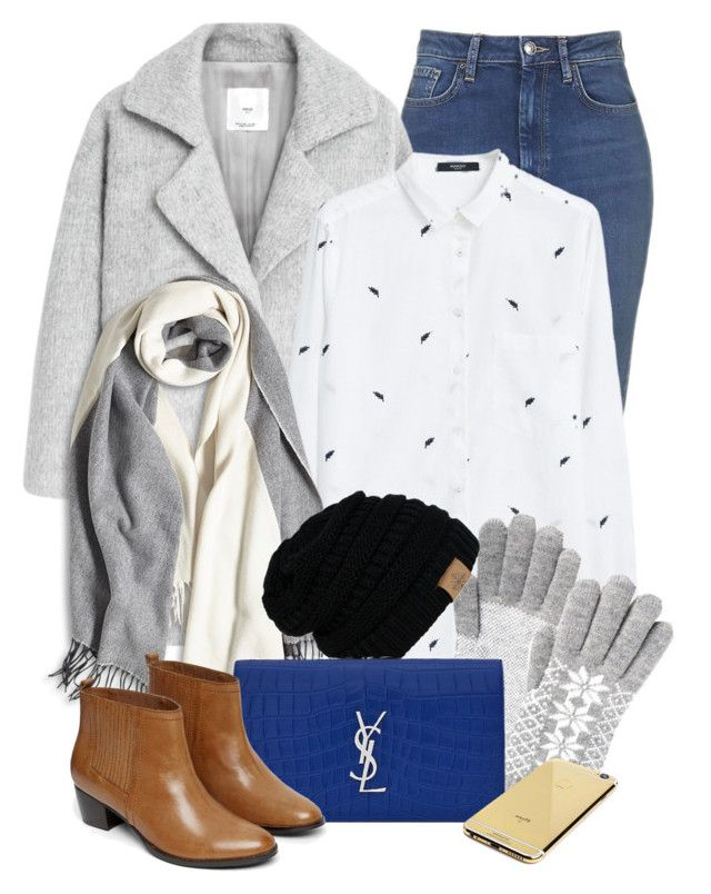 """Nov 28th (tfp)"" by boxthoughts ❤ liked on Polyvore featuring MANGO, Yves Saint Laurent, Warehouse, Goldgenie, women's clothing, women's fashion, women, female, woman and misses"