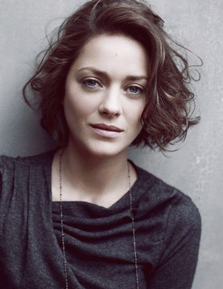 Marion Cotillard Curly Bob Appropriate To For Anyone Who Is