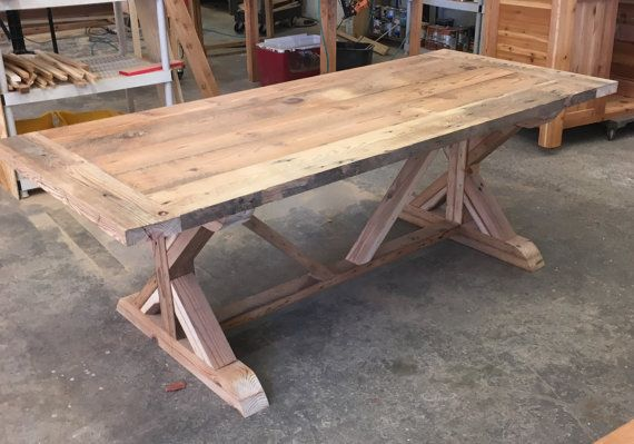 Farm Table And Benches Custom Made With Reclaimed Wood, Barn Wood Or  Distressed Heart Pine