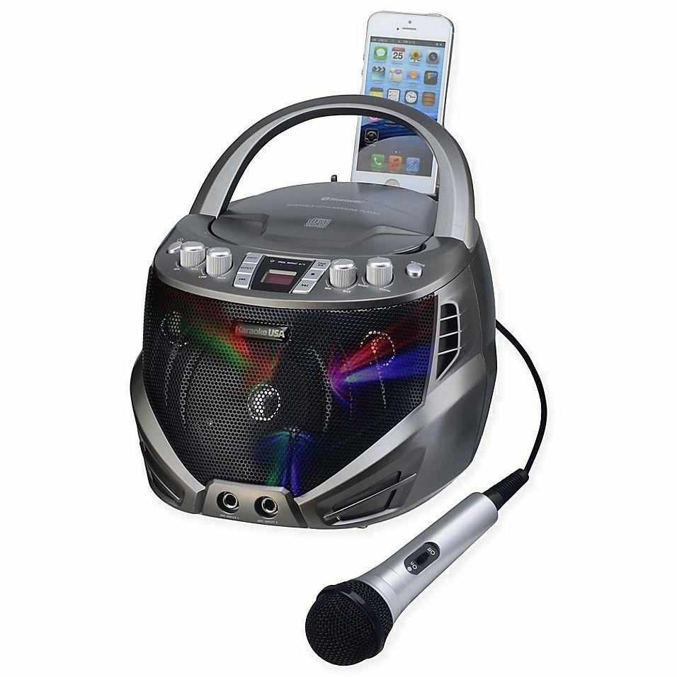 Karaoke Usa Portable Cdg Karaoke Player With Flashing Led Lights In Silver #karaokeplayer Karaoke Usa Portable Cdg Karaoke Player With Flashing Led Lights In Silver #karaokeplayer
