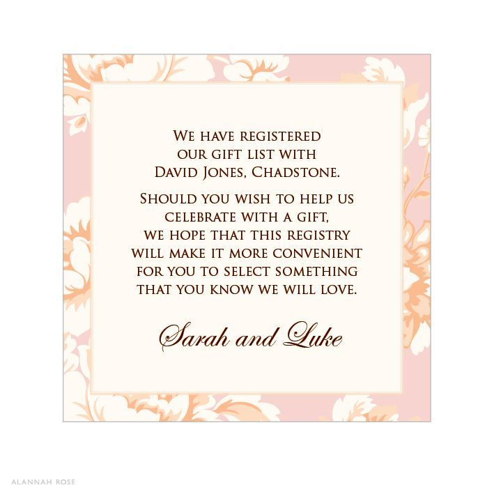 gift card for bridal shower wording