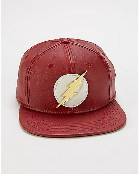 44e0006b94a7cf Faux Leather The Flash Snapback Hat - DC Comics - Spencer's ...