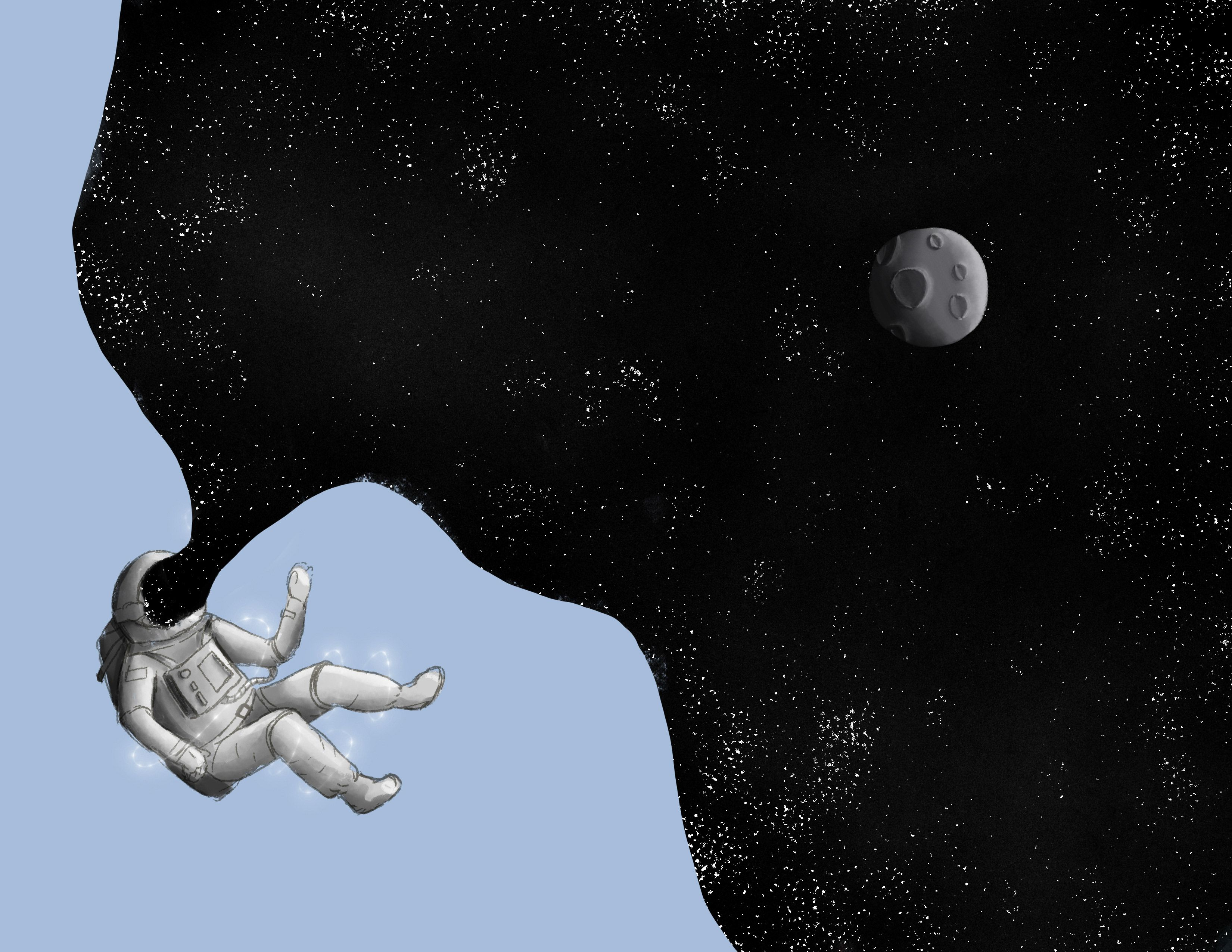 Astronaut Floating Space Illustration By Cludix Space Drawings