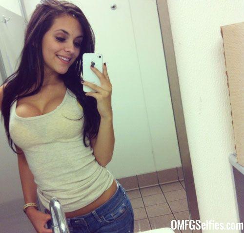 College cutie taking selfies