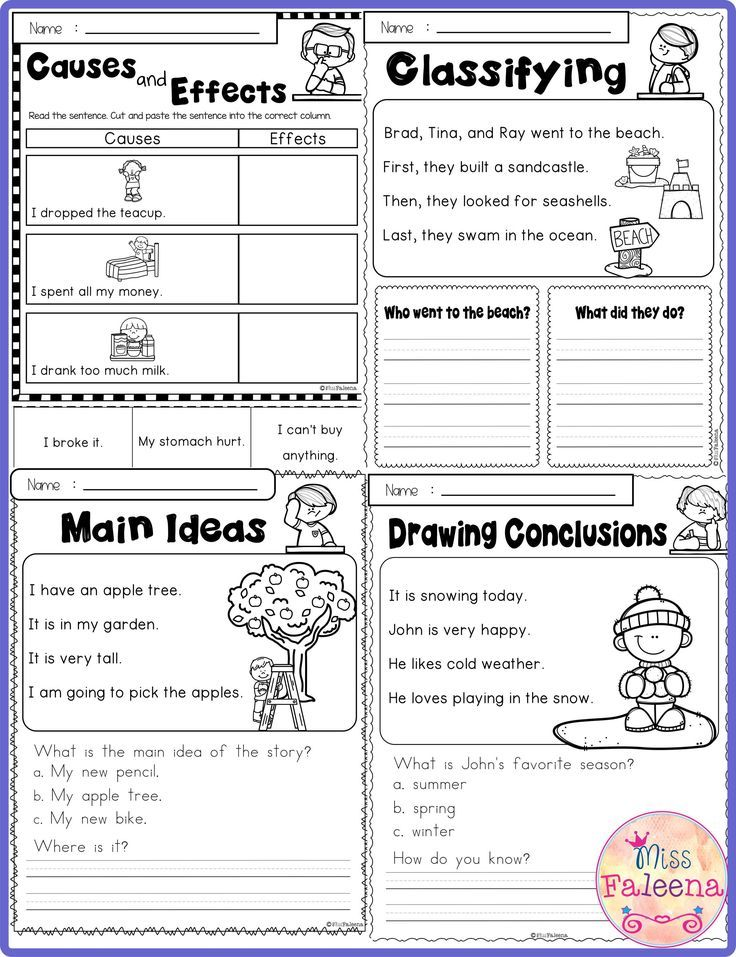 Free Reading Skills Contains 8 Pages Of Reading Skills Worksheets. This  Product Is Suitable For… Reading Skills, Reading Skills Worksheets, Third  Grade Worksheets
