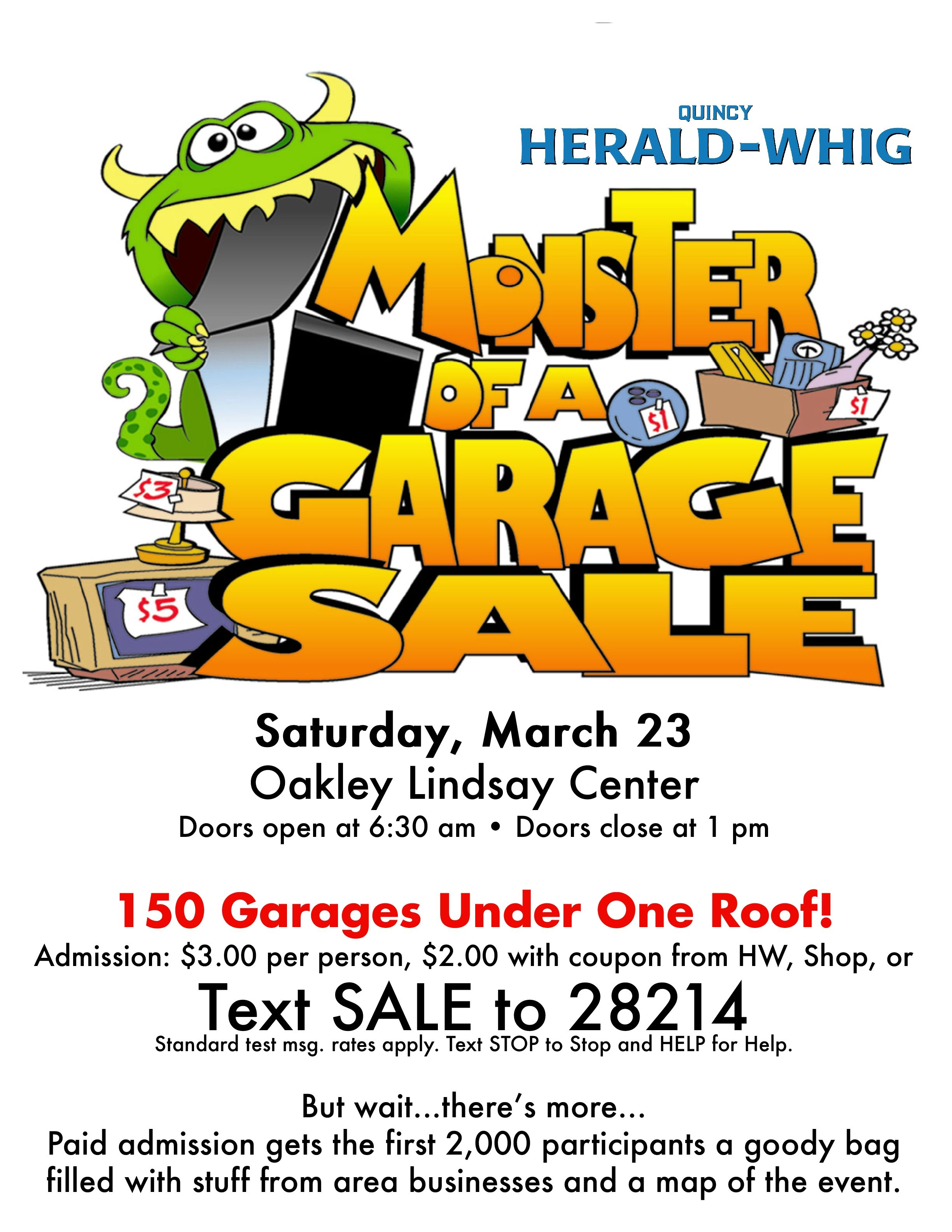 Monster Of A Garage Sale March 23rd In Quincy Il Garagesale
