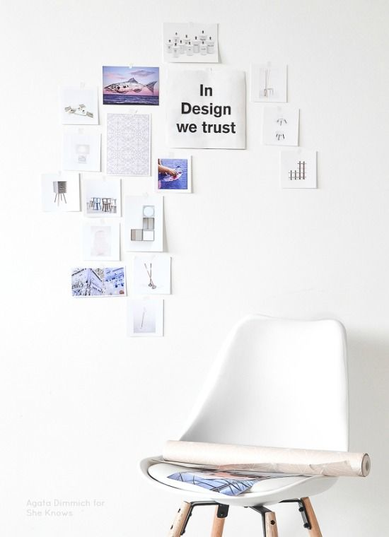 Passion Shake | DIY Gallery Wall for renters | http://passionshake.com styling Agata Dimmich