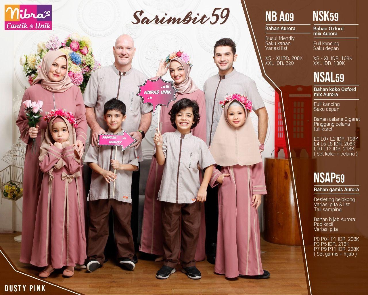 Baju Couple Keluarga - Nibras 8 Dusty Pink  Muslim, Baju anak