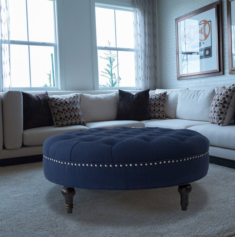 Miraculous Holquin Tufted Round Ottoman Living Rooms Round Tufted Squirreltailoven Fun Painted Chair Ideas Images Squirreltailovenorg