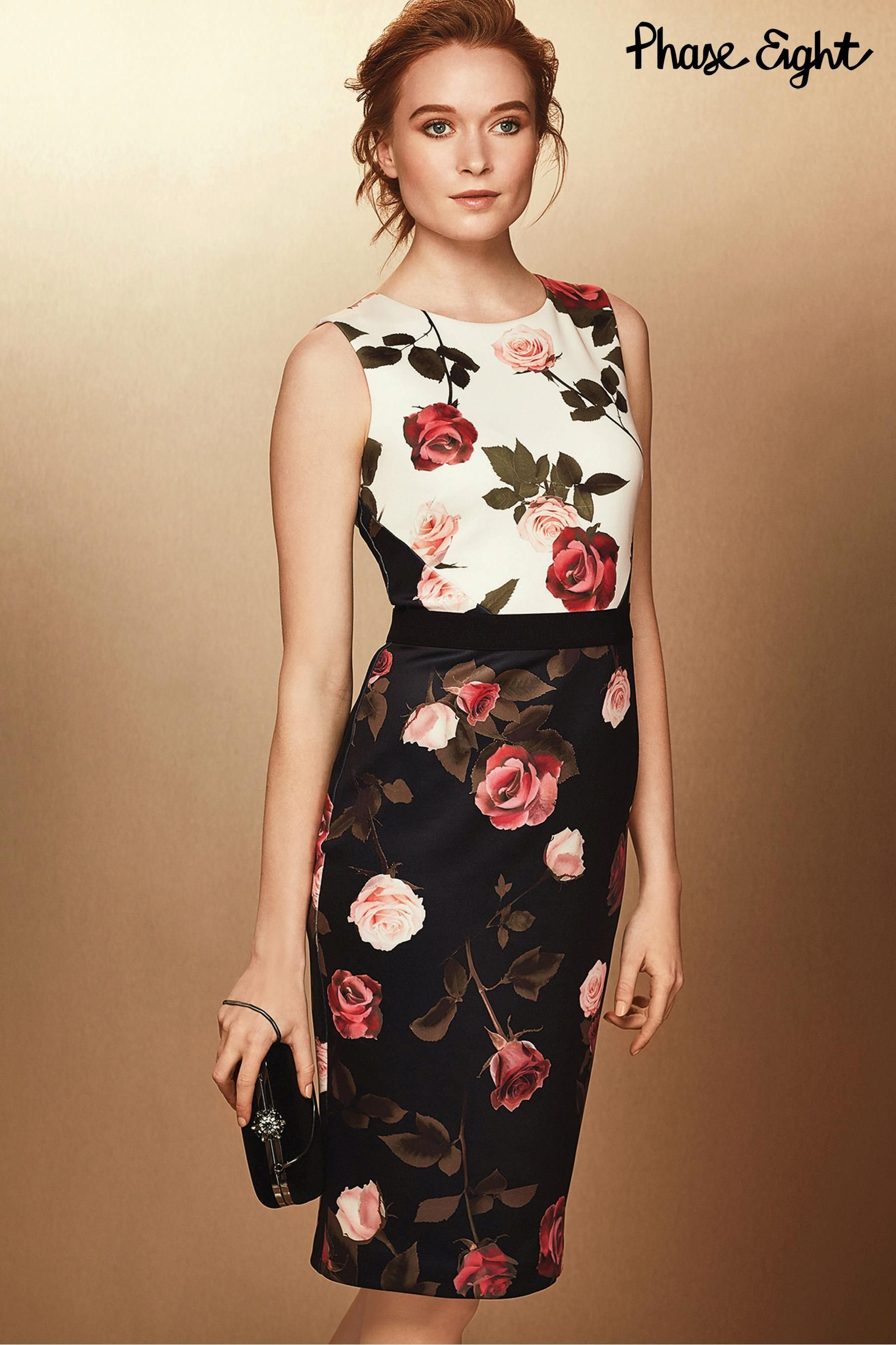 Black dress next - Buy Phase Eight Black Rose Print Dress From The Next Uk Online Shop