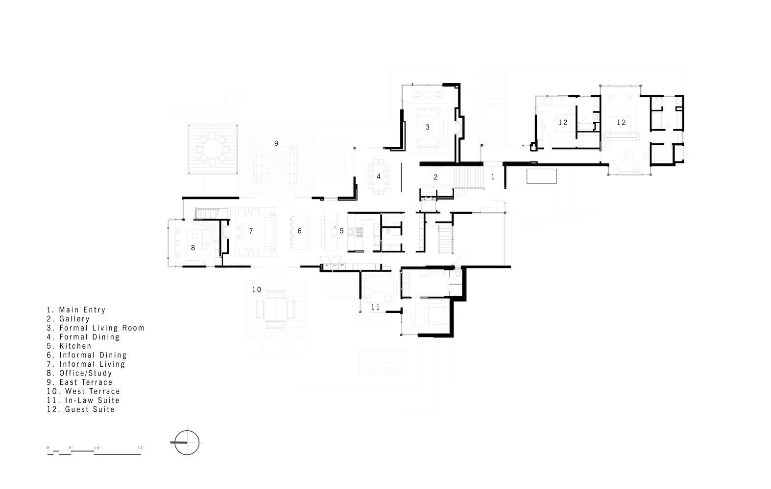 Tiburon bay view walker warner architects floor plan g