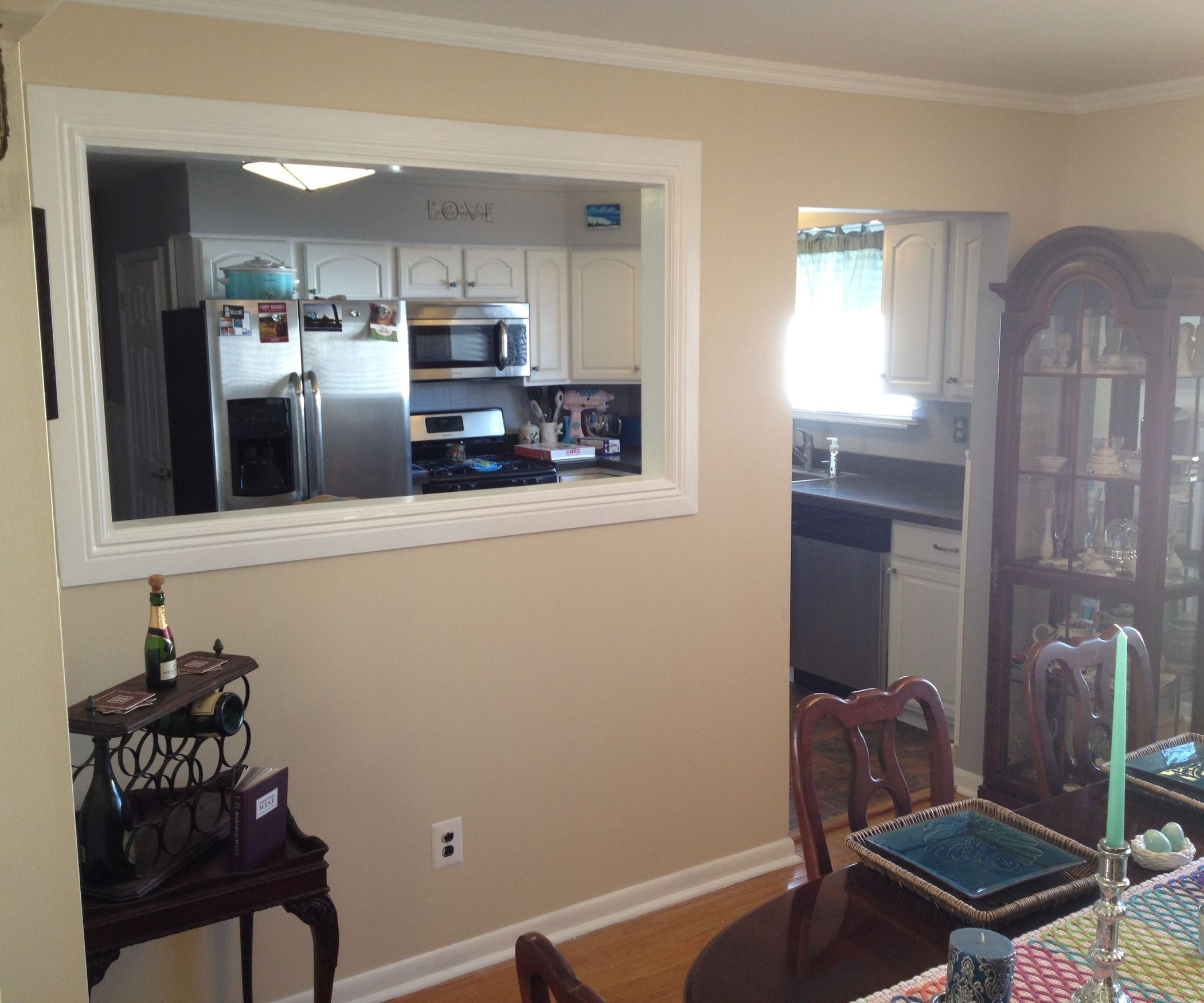 Kitchen Wall Pass Through Kitchen Pass Building A Kitchen