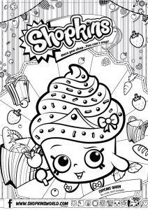 Shopkins Coloring Pages Season 1 Cupcake Queen