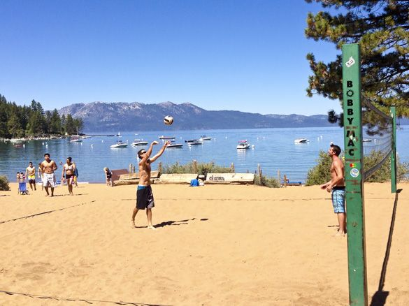 Zephyr Cove Beach At Lake Tahoe Sand Volleyball Courts And Lot S Of Fun One