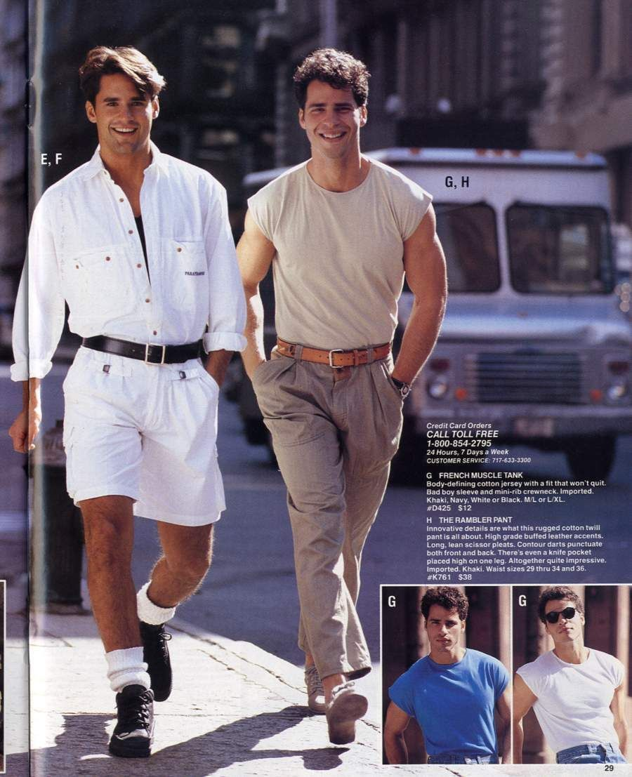 Mens Fashion 1989 International Male 80er Männermode - Männermode 80er Jahre