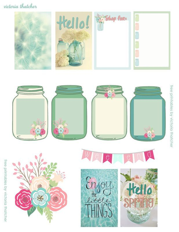 free mason jar floral planner printables victoria