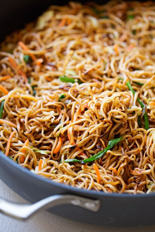 Cantonese Style Pan Fried Noodles Smokey Noodles Just Like Your Favorite Restaurants And It S A Quick 30 Fried Noodles Recipe Pan Fried Noodles Asian Recipes