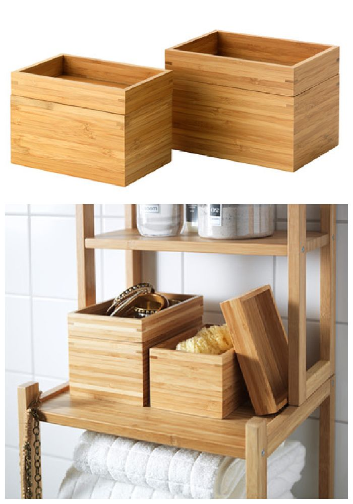 Dragan 2 Piece Bathroom Bamboo Dish Set Helps You To Organize Cotton Hair Clipore