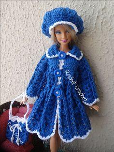 #Casacão #Doll #Crochet #Vestido #Dress #Muñeca #Vestido #Barbie #RaquelGaucha