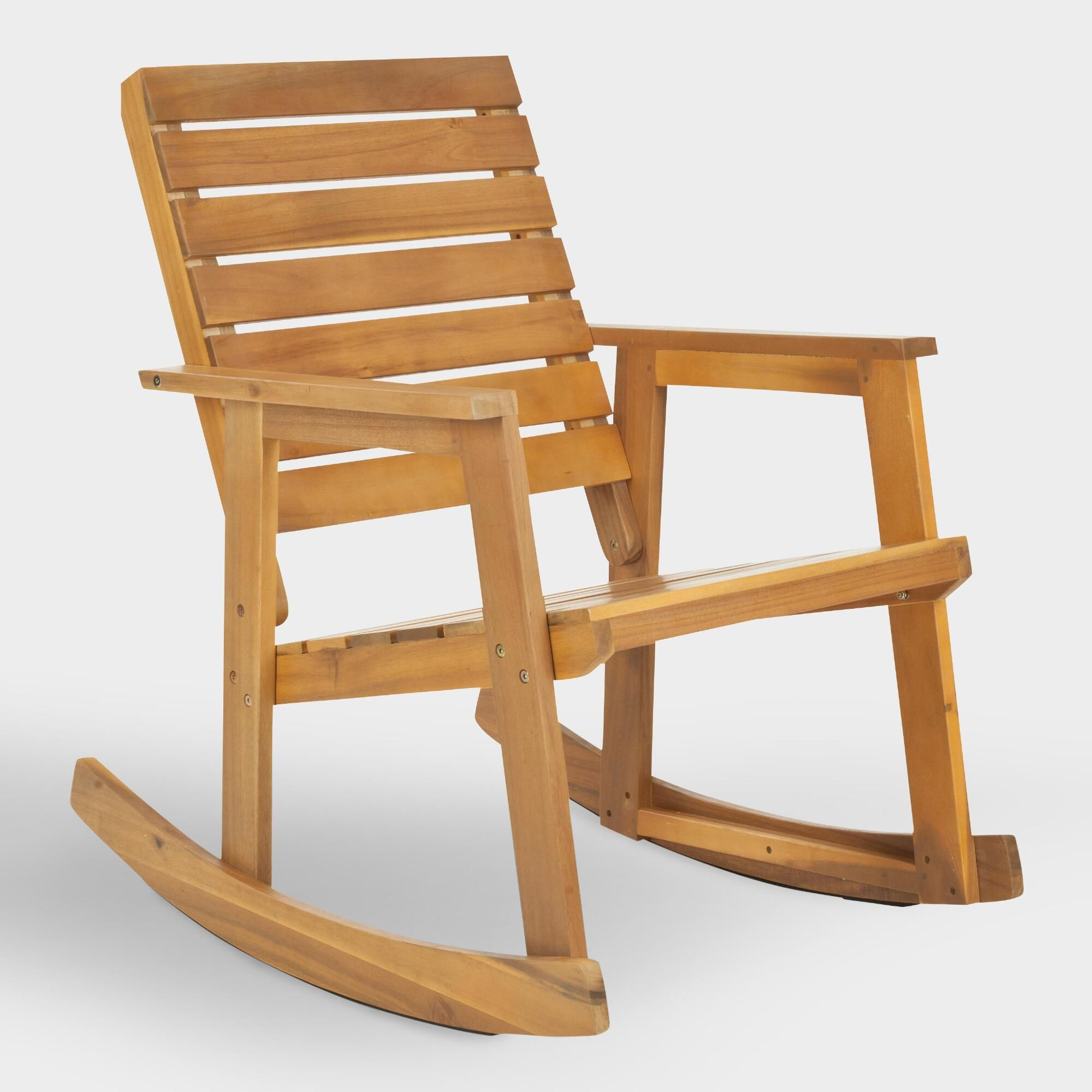 Fine Natural Brown Wood Outdoor Patio Rocking Chair By World Short Links Chair Design For Home Short Linksinfo