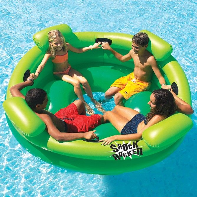 Swimline shock rocker pool float things pinterest for Accessoires piscine 54