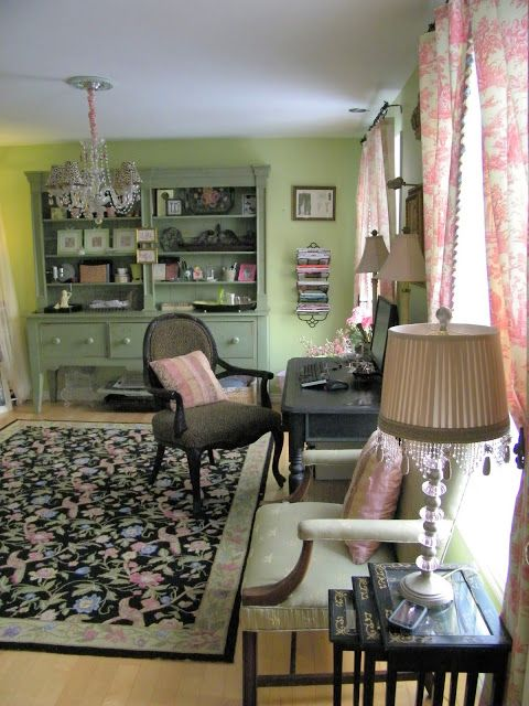Maison Decor: My Pistachio and Pink Workroom