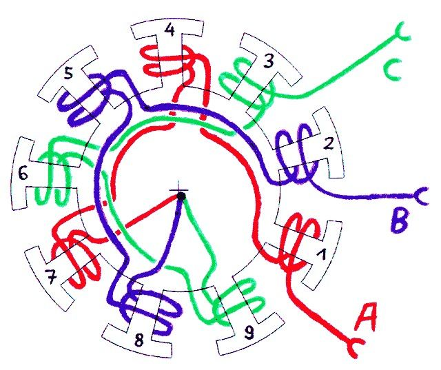 Motor Winding Wiring Diagram
