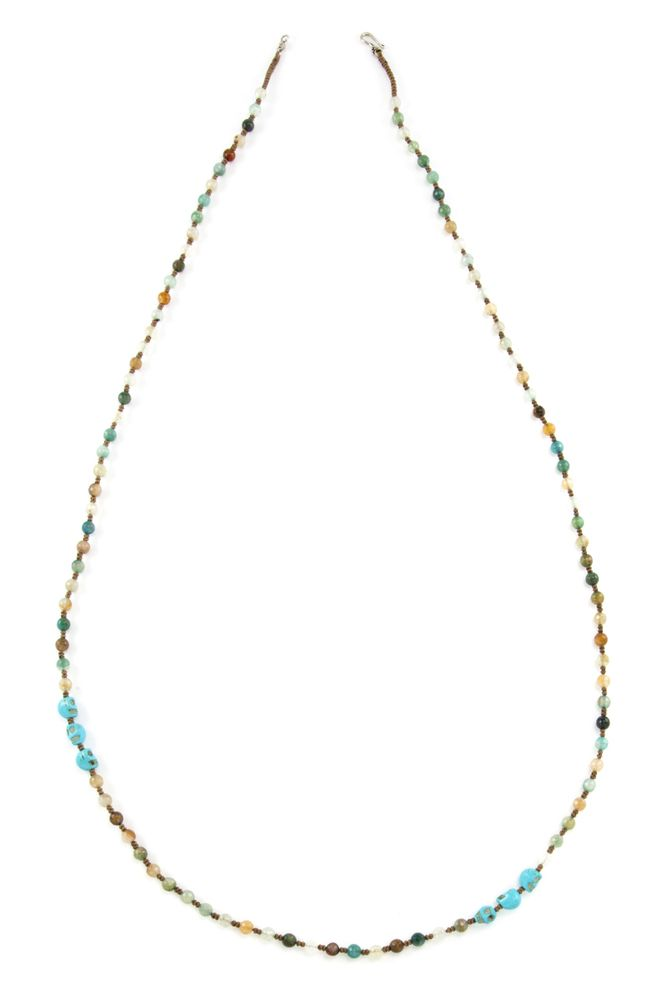Chan Luu - Aqua Fire Agate Skull Necklace, $190.00 (http://www.chanluu.com/necklaces/aqua-fire-agate-skull-necklace/)