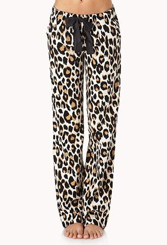 Leopard jammies.  So fun and comfy looking.