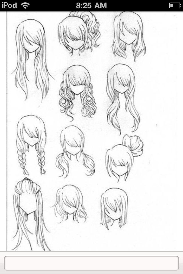 Side Bangs Hair Things I Want Pinterest Drawings Art