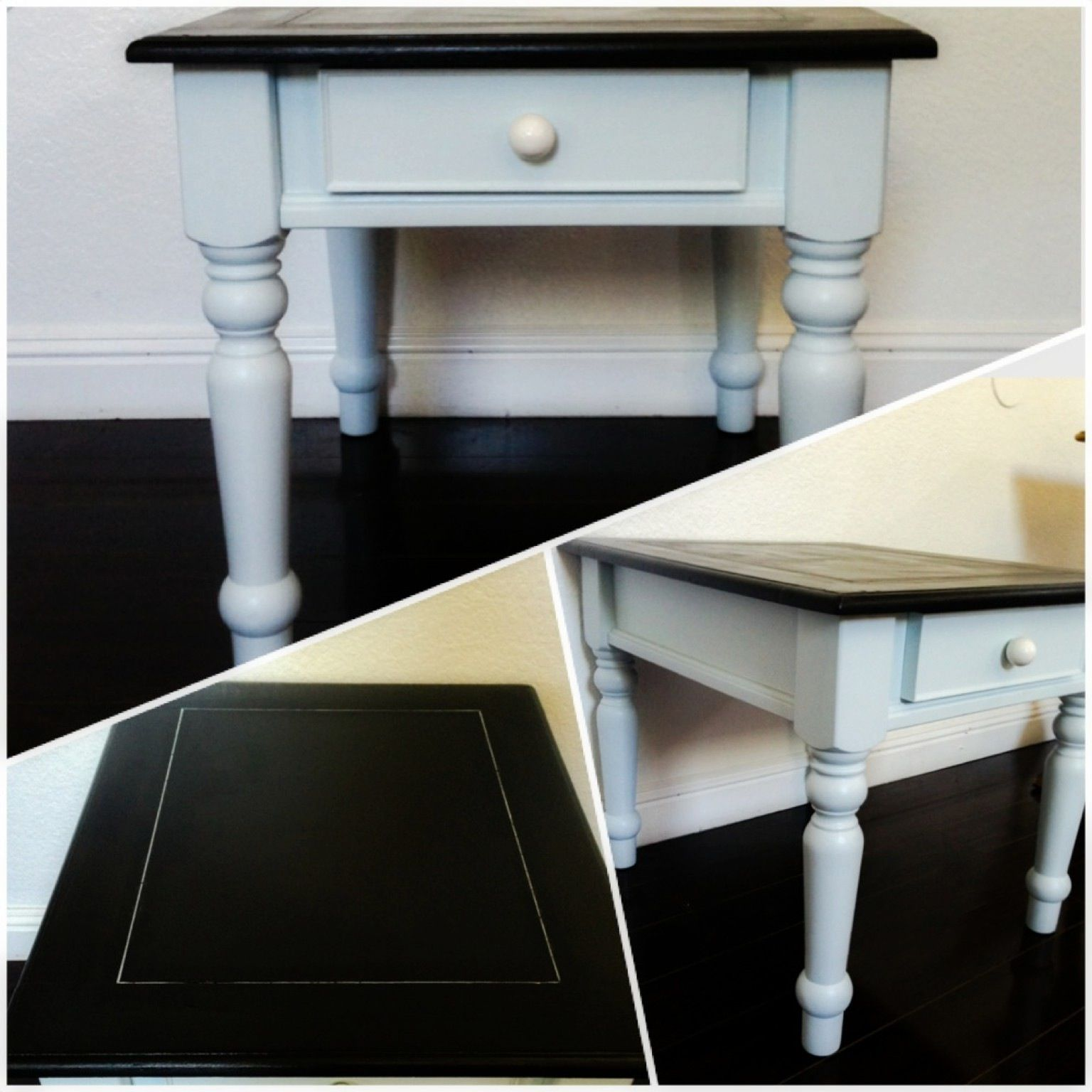 Best Cute Refinished End Table In Black And Simply Elegant A 400 x 300