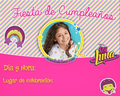 Descargar Invitaciones De Cumpleanos Soy Luna Tarjetas Soy